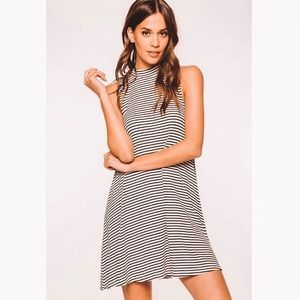 Everly Ribbed Striped Swing Dress